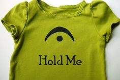 I'm a Fermata - Hold Me (Black on Spring Green) - Toddler Tee Size 18M. $17.00, via Etsy.