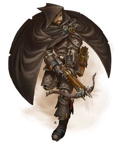 """A Character from the World of Rhune EDIT: Colored! Rhune, Dawn of Twilight is a Pathfinder RPG """"Stormpunk"""" setting that combines the intricated clockwork/steam fantasy style with the brutal and mys..."""