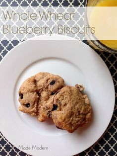 Whole Wheat Blueberry Biscuits from homemademodern.blogspot.com -Y