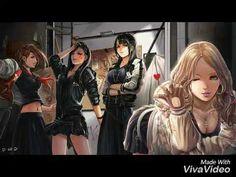 Shibuya , Sado , Black, Yuko , Gekikara and Torigoya. Girls Anime, Anime Guys, Fanart, Beautiful Fantasy Art, Kawaii, Girl Gang, These Girls, Bad Girls, Anime Style