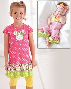 From CWDkids: Chick & Bunny Outfits.