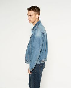 Image 1 of DENIM JACKET from Zara