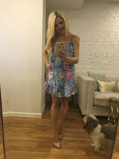 lilly pulitzer blue dress http://styledamerican.com/instagram-roundup-summer-adventures/