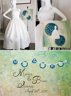 commemorative wedding dress painting