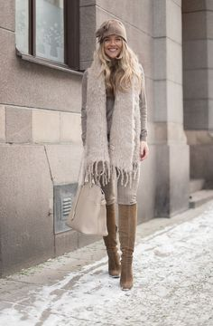 Swedish blogger Molly Rustas wearing Balmuir super soft kid mohair scarf. www.balmuir.com/shop