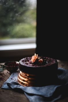 Flourless Chocolate Rose Cake | Recipe, styling & photography by Christiann Koepke of PortlandFreshPhoto.com-4