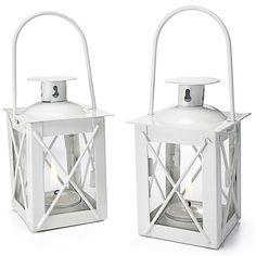 Luminous White Mini Lantern Wedding Favor or Table Decoration