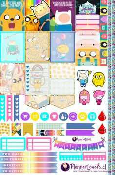 Adventure Time Free Printable Planner Stickers by AnacarLilian.deviantart.com on @DeviantArt