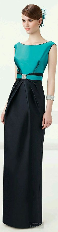 Silk colorblock dress