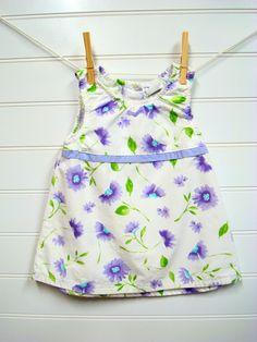 Vestiti vintage Baby Baby Girl abito in cotone di OnceUponADaizy, $18.00