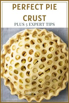 No need to be intimidated! This is the only recipe you'll ever need. A pie crust that is flaky, tender and most of all tastes so delicious the filling is almost a second thought! Sweet Desserts, Easy Desserts, Delicious Desserts, Dessert Recipes, Delicious Cookies, Yummy Food, Apple Desserts, Keto Desserts, Tart Recipes