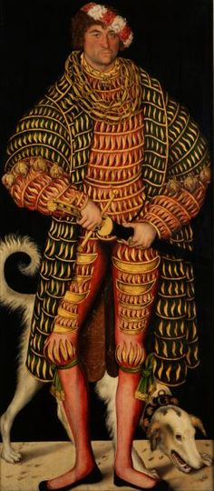 Fashion in Paintings: Duke Henry the Pious by Lucas Cranach the Elder,...