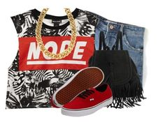 """""""Summer Fun 68"""" by nenedopesauce ❤ liked on Polyvore featuring Wet Seal, Vans and Signature Gold"""