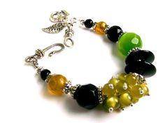 Gemstone bracelet.Gemstone Jewelry.Agate by Jewelry2Heart on Etsy