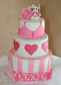 Little girl birthday cake, this would be perfect for my daughter's 4th but with a pig on top..she wants a princess pig party!
