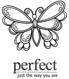 Perfect The Way You Are - ☮ Color it Yourself! Art  psychedelic ☮