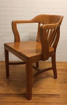 Antique Vintage Macey Co Arm Chair Bankers Lawyers Jury
