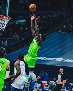 Alley Oop, Anthony Edwards, Minnesota Timberwolves, Michigan Wolverines, Nba Players, Basketball Court, Clouds, Concert, Sports