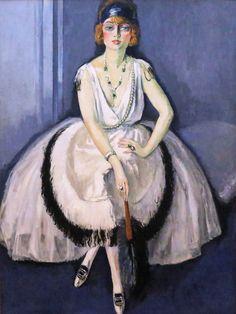 Kees van Dongen. 1877-1968. Paris.  Femme à l'éventail. Woman with a Fan. 1913.  1908. Grenoble. Musée des Beaux Arts.