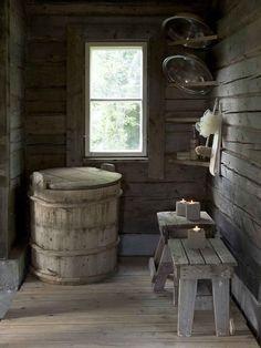 Sauna Hammam, Outdoor Sauna, Sauna Design, Finnish Sauna, Photo Deco, Ideas Hogar, Cabins In The Woods, Interiores Design, Country Life