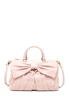 RED Valentino Pleated Bow Satchel