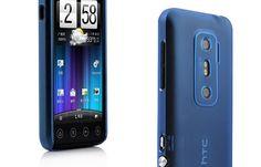 Ultra-thin Arenaceous Transparent Hard Case for HTC Evo 3D G17-Transparent Blue
