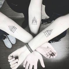 Matching Geometric Tattoos by susboom_tattoo