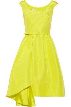 Oscar de la Renta Silk-faille dress   NET-A-PORTER