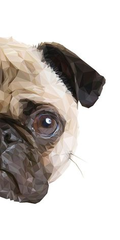 """Visit our site for even more information on """"black pug puppy"""". It is a great area to learn more. Wallpaper Pug, Illustration Art Dessin, Polygon Art, Baby Pugs, Pug Art, Art Sculpture, Pug Puppies, Dog Paintings, Pug Love"""