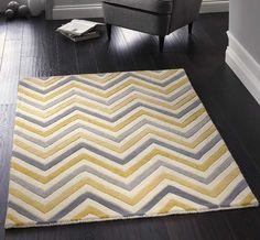 Cabone Yellow / Grey Wool Rugs | Modern Rugs