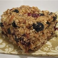 Blueberry-Almond Energy Bars   For camping trips?