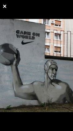 Water polo graffiti art