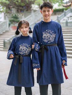 Traditional NavyBlue Spring Lovers Men Hanfu Clothing - US $189.00