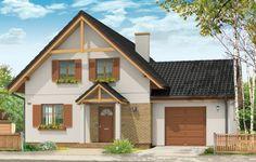 Projekt Sylwia to dom parterowy z użytkowym poddaszem. Przekryty dwuspadowym dachem, z dobudowaną bryłą garażu. Domek jednorodzinny, wręcz idealny dla 4-6 osób. Budynek łączy w sobie bezpretensjonalność bryły i funkcjonalnie zaplanowane wnętrze. Na parterze zaprojektowano jednoprzestrzenny salon połączony z aneksem jadalnym i kuchnią, na poddaszu umieszczono trzy sypialnie.