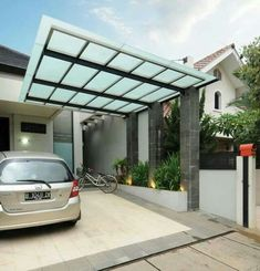 Car Porch Car Porch Modern In 2019 Canopy House Porch Design