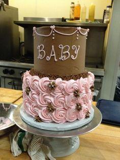 Chocolate Baby Cake |Baby Shower Cake | Pinterest