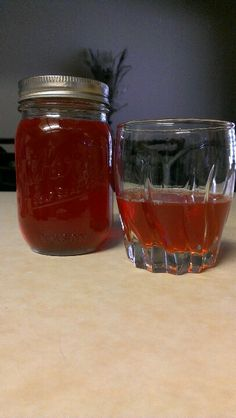 My home made strawberry moonshine!