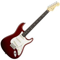 Fender 2012 American Standard Stratocaster Electric Guitar, with... (960 NOK) ❤ liked on Polyvore featuring instruments, fillers and music