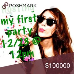Hosting my first party I'm hosting a party 12/23 @ 12pm. Theme and co-hosts tba. If you'd like to be considered for a host pick, like this post, comment down below, and share this listing. Closets with non-compliant items (sold or available) will not be considered. Please read the Posh rules if you are unsure about compliant items or ask me. Other