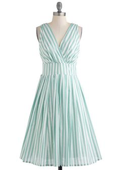 """""""Glamour Power to You"""" Mint Stripes from ModCloth"""