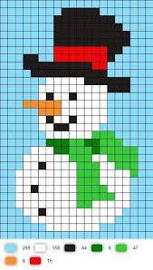 Snowman perler bead pattern - Ideas In Crafting Cross Stitch Cards, Cross Stitching, Cross Stitch Embroidery, Cross Stitch Patterns, Quilt Patterns, Snowman Cross Stitch Pattern, Christmas Perler Beads, Christmas Cross, Pixel Art Noel