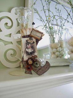 Halloween Decor  Halloween Ornament  Paper Witch by AvantCarde, $20.00