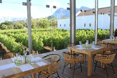The new tasting room at Babylonstoren (PHOTO: Katie Cline)