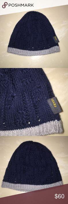 972dc1f69ea Auth Fendi infant baby boy skull cap hat beanie Authentic Fendi infant baby  boy skull cap