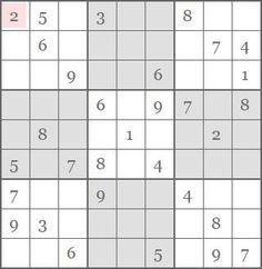Sudoku número 2 para jugar online o imprimir