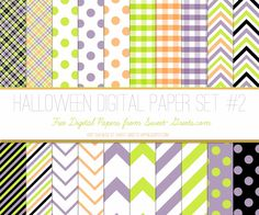 Just Peachy Designs: Free Halloween Digital Paper