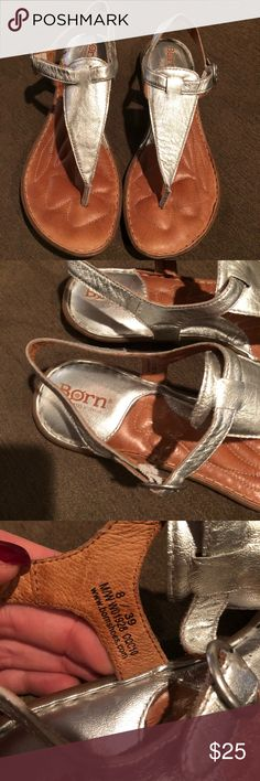 Born sandals Born silver leather sandals in good condition Born Shoes Sandals