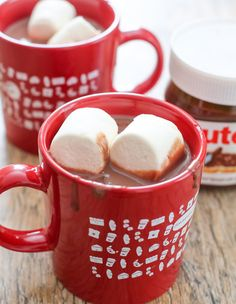 This is a twist on traditional European-style, thick hot chocolate, adding the delicious Nutella flavor to the drink. It's the perfect winter holiday drink. I am in full holiday mode. We started putting up our tree this weekend. We didn't actually finish, but at least it's up and now we just need to finish the …