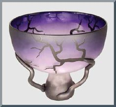 Amethyst glass coloured drinking vessel or chalice