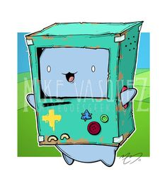CatBMO Bravest Warriors & Adventure Time Cross by MikeGoesGeek, $15.00